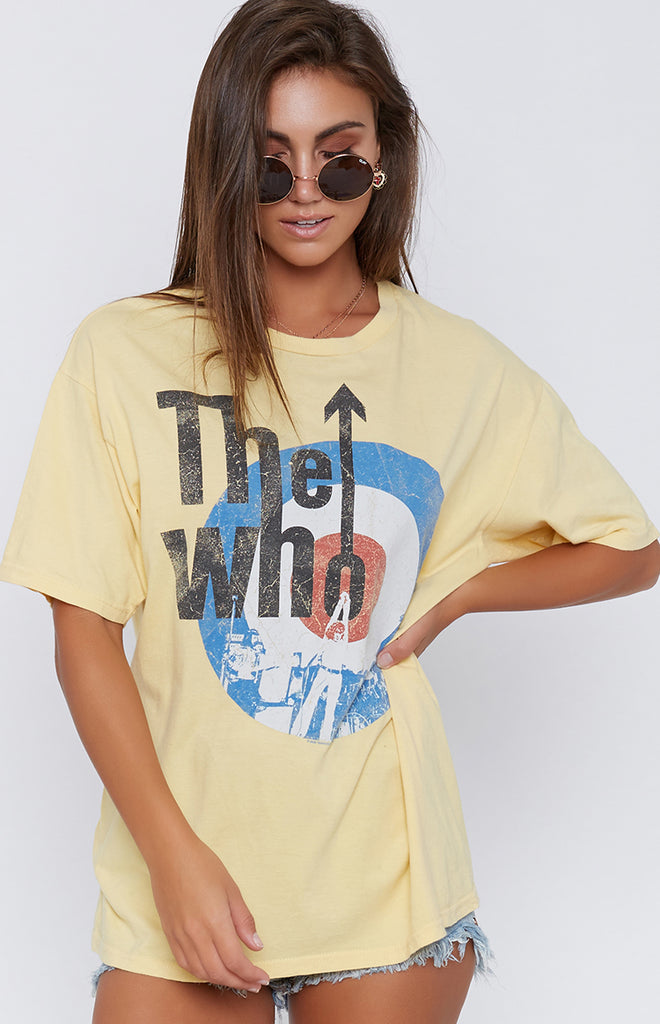 Vintage Yellow The Who Band Tee