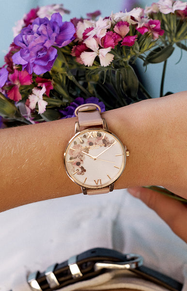 Olivia Burton Enchanted Garden Rose Sand and Rose Gold
