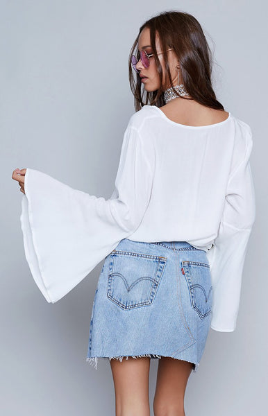 Moonscape Top White
