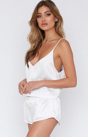 Belle Sleep Shorts Blanc