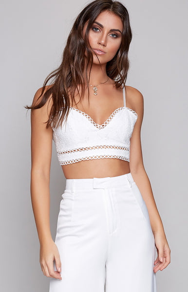 Bewitched Lace Crop White