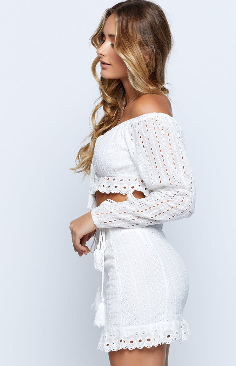Golden Hour Skirt White