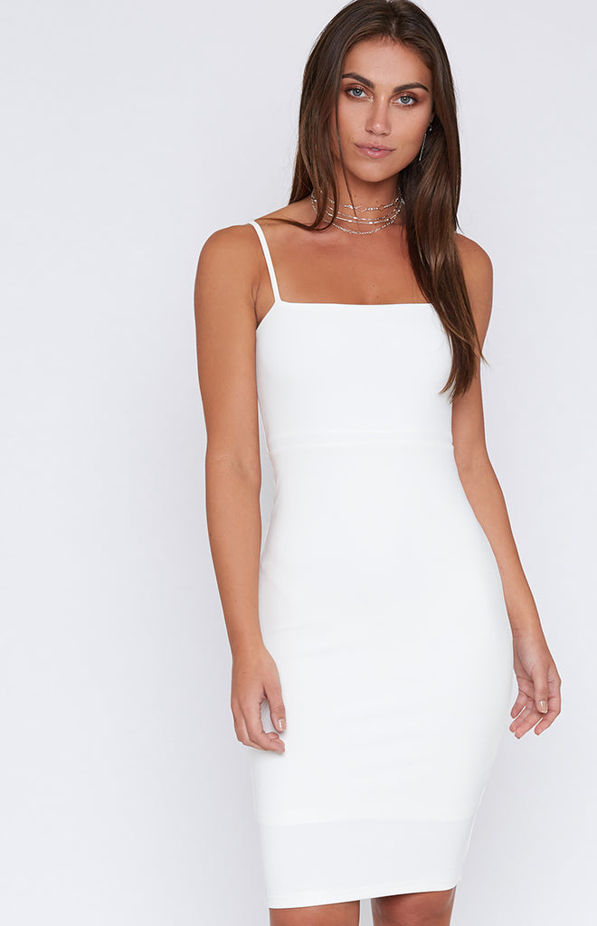 Faye Bodycon Dress White