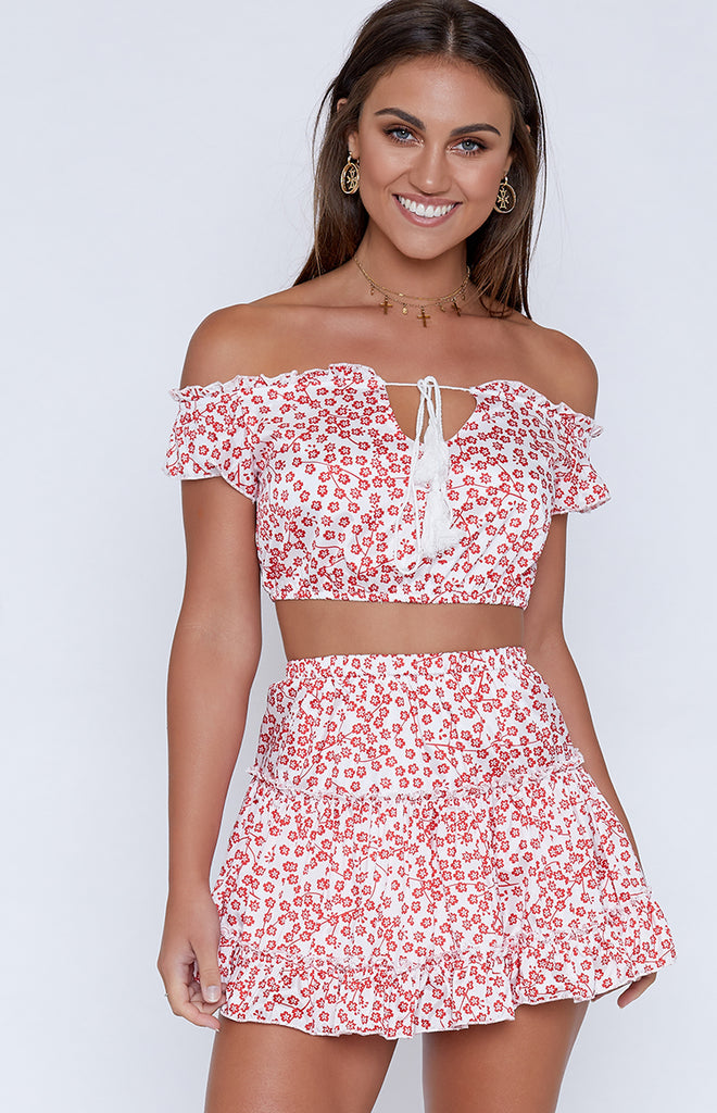 Cha Cha Two Piece Red Floral