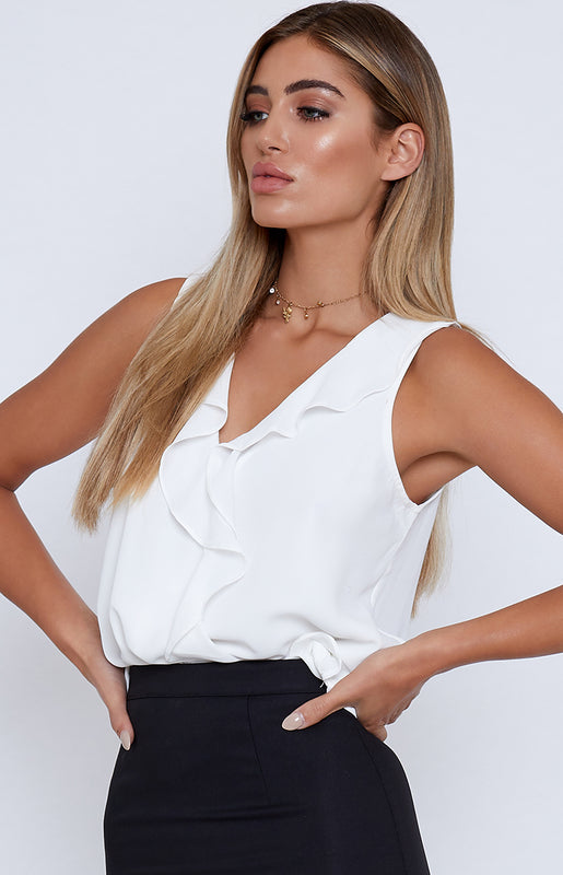 Frill Of It Blouse White