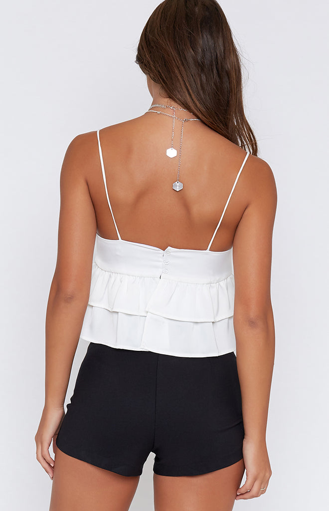 Cartel Frill Crop White