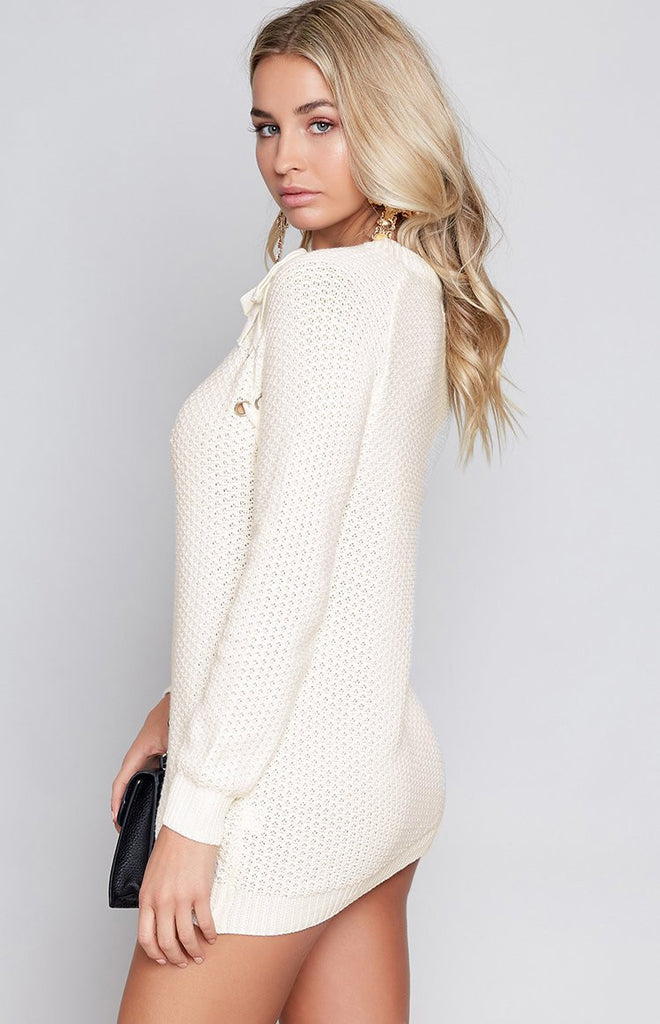 Tyga Laced Knit Ivory