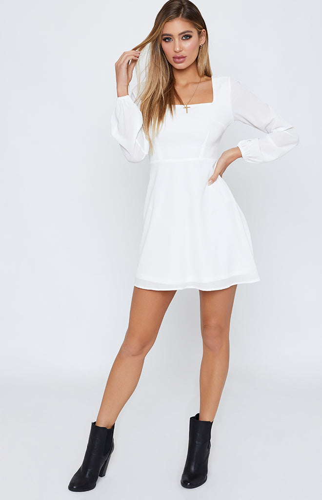 Come To Life Dress White