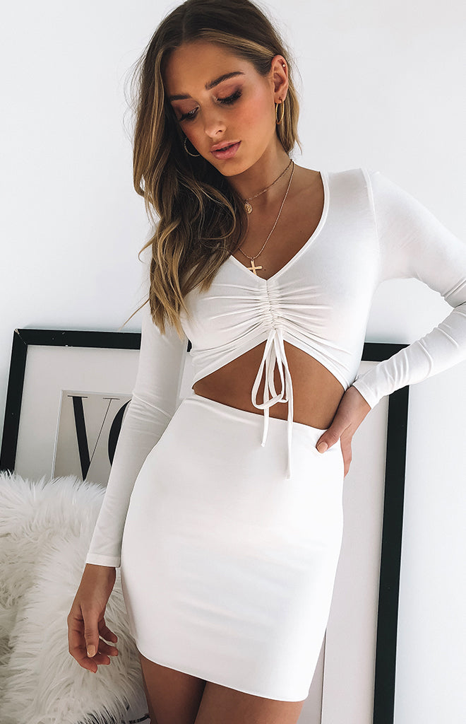 Emmie Dress White