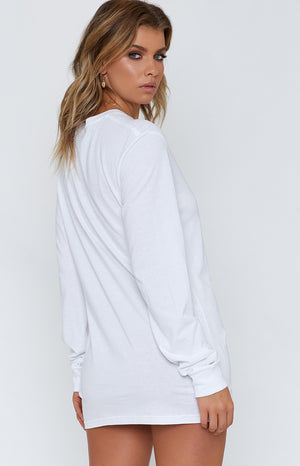 White Long Sleeve Tee White