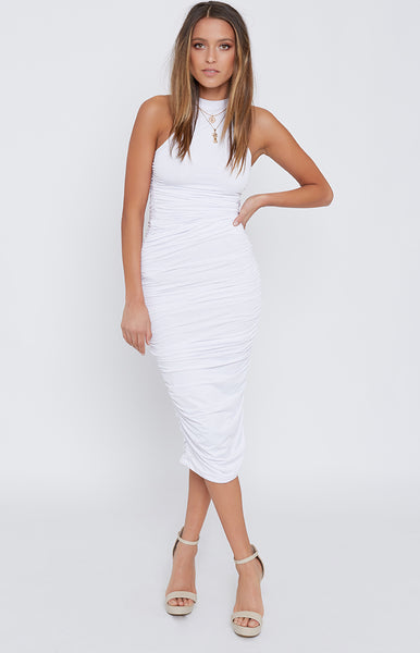 Dash Midi Dress White