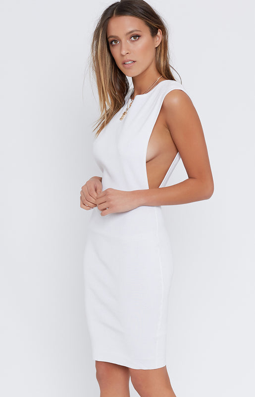 Ally Muscle Dress White