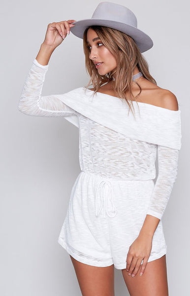 Just Stay Playsuit White