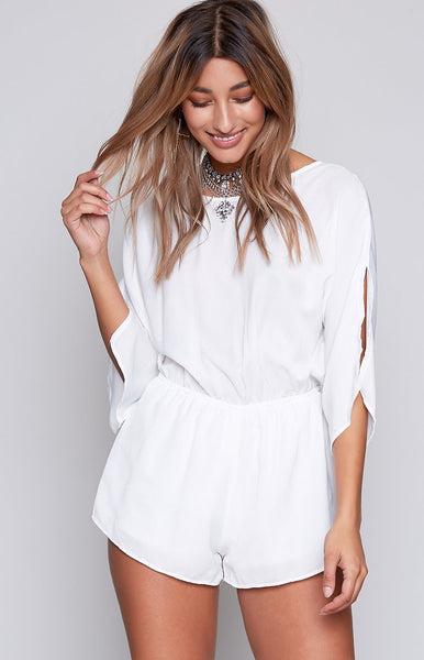 Azalea Playsuit White