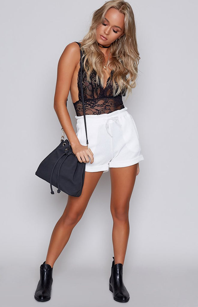 Bailey Ribbed Shorts White