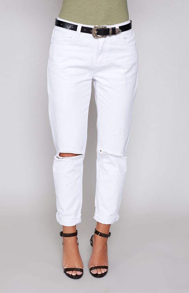 Rip It Up Denim Jeans White
