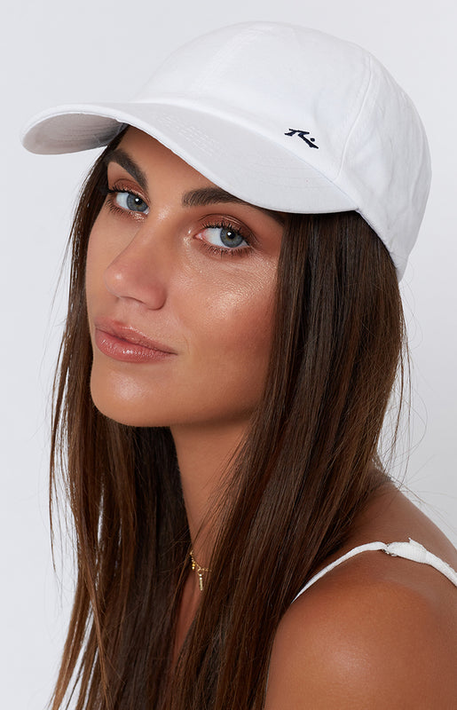 Rusty Solid Adjustable Cap White
