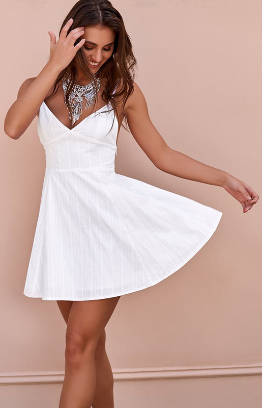 Sanja Dress White Stripe