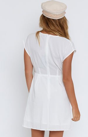 Wendy Tie Front Dress White