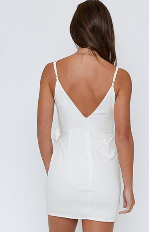 Stacey Wrap Dress White