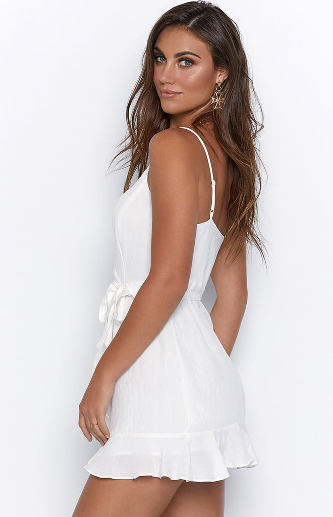 Crystal Carriage Dress White