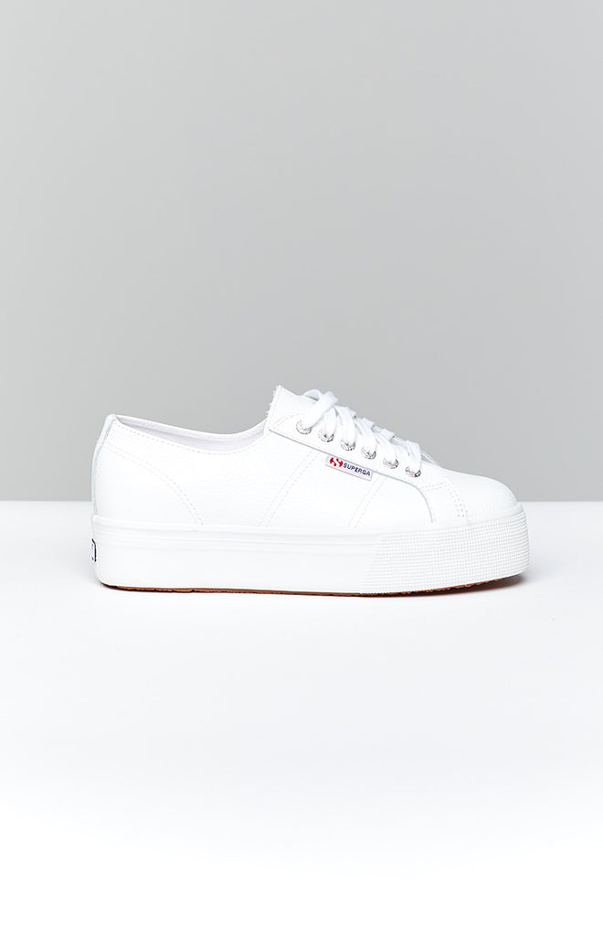 Superga 2790 FGLW Leather Sneaker White 7
