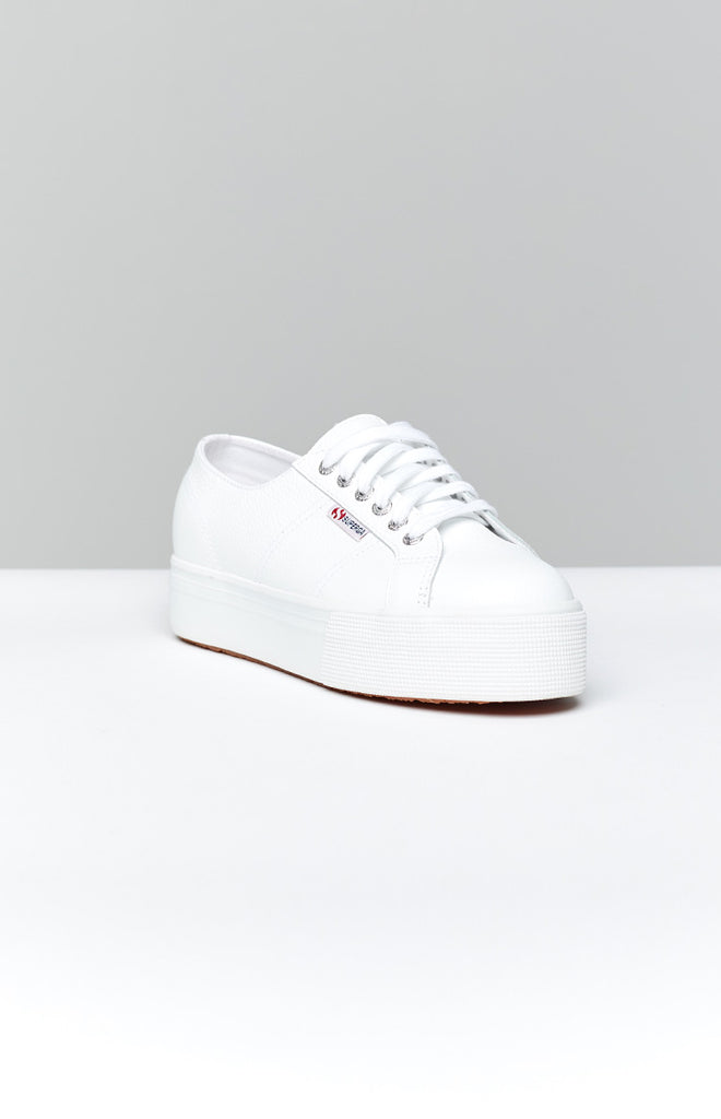 Superga 2790 FGLW Leather Sneaker White 1