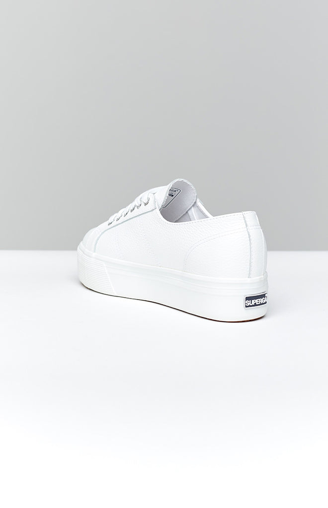 Superga 2790 FGLW Leather Sneaker White 2
