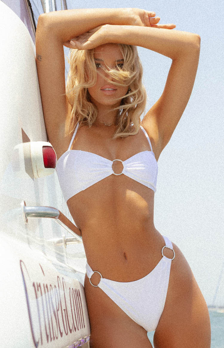 9.0 Swim Wildcat Bikini Bottoms White