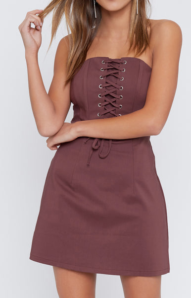 Fire Starter Laced Dress Wine