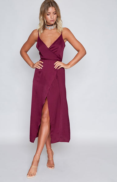 Rydges Wrap Dress Wine