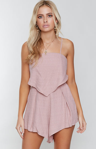 Oasis Playsuit Blush