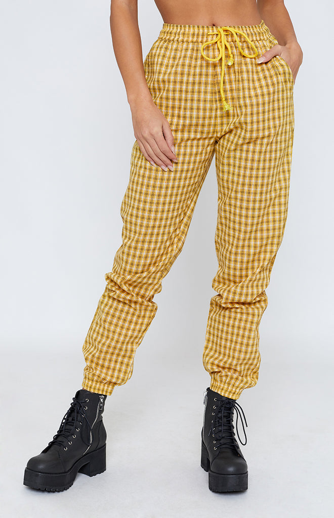 Ghosttown Pants Yellow Check