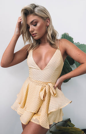 Spring Crush Playsuit Yellow