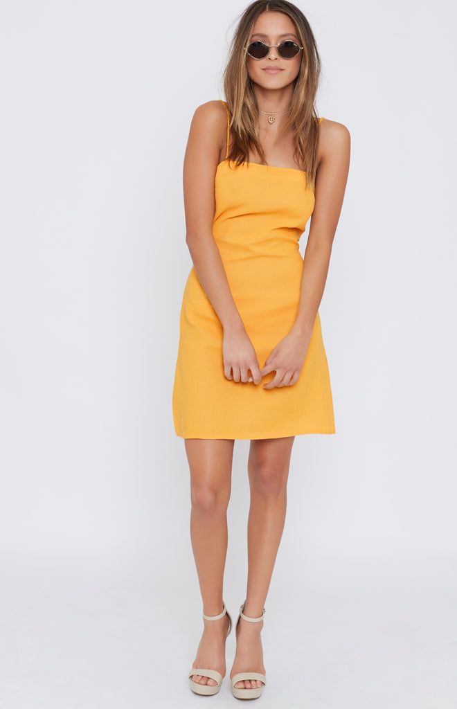 Sally Mini Dress Mustard