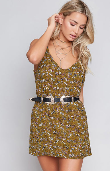 Cosmic Slip Dress Golden Botanic