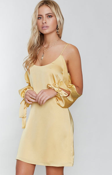 Hudson Cold Shoulder Dress Butter
