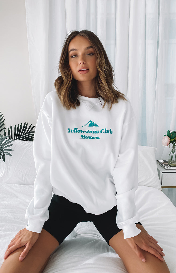 Yellowstone Crew Neck Jumper White