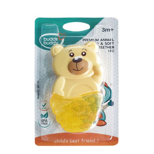 Budds Buddy Premium Animal Hard & Soft Water Filled Teether