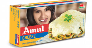 Amul Cheese Processed Cheese 200g Block