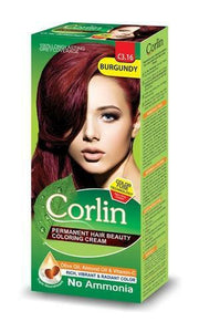 Corlin Permanent Hair Beauty Coloring Cream C3.16 Burgundy 100ml