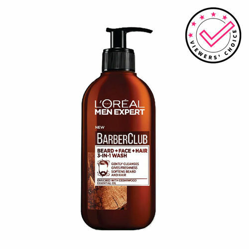 Loreal Men Expert Barber Club Beard + Face + Hair 3-in-1 Wash 200ml