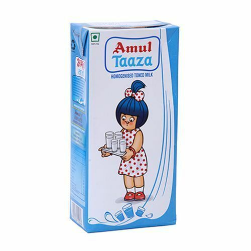 Amul Taaza Homogenised Toned Milk 1L