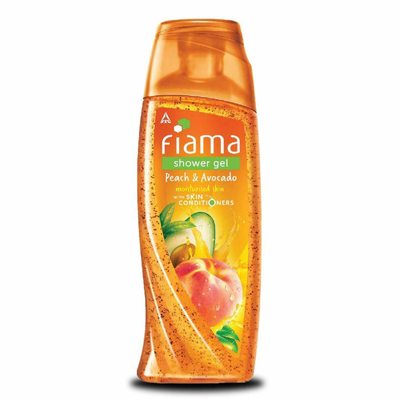 Bay 1 Fiama Shower Gel Peach & Avocado Moisturised Skin & Get 1 Fiama Hand Wash Free 250ml+150ml