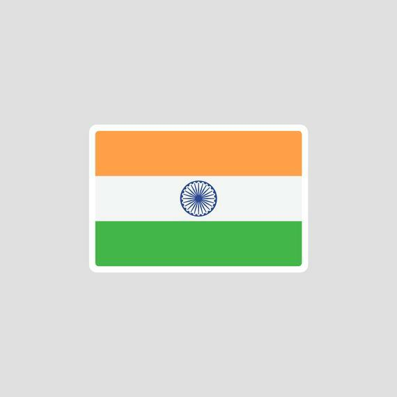 Indian Flag Tricolor Sticker