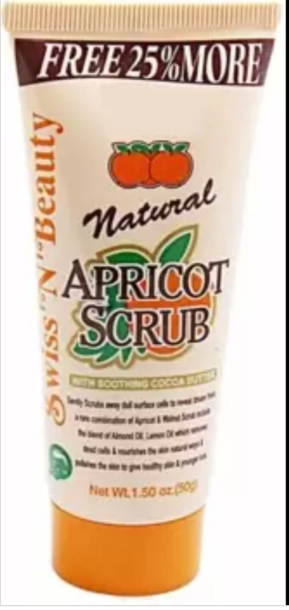 A.D.S Natural Apricot Scrub With Soothing Cocoa Butter 212g