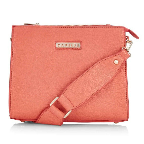 Fastrack Abbey Satchel Small Peach Ladies Hand Bag size (24*14*20.5 Cm)