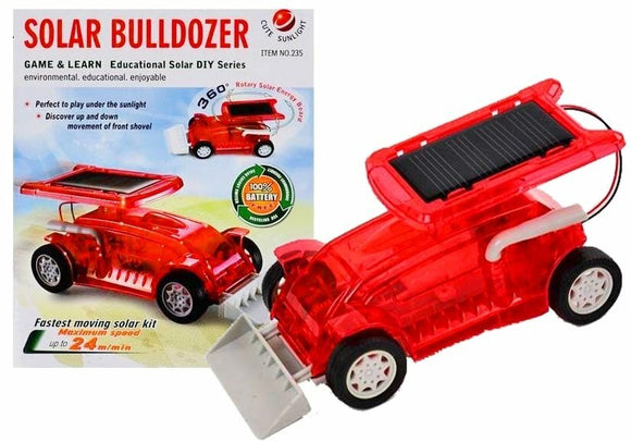 Solar Bulldozer Car Red Game & Learn, Fastest Moving Solar Kit  (Maximum Speed 24m/min)