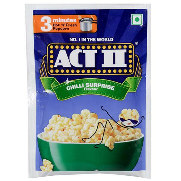 Act II Instant Popcorn Chilli Surprise  40g