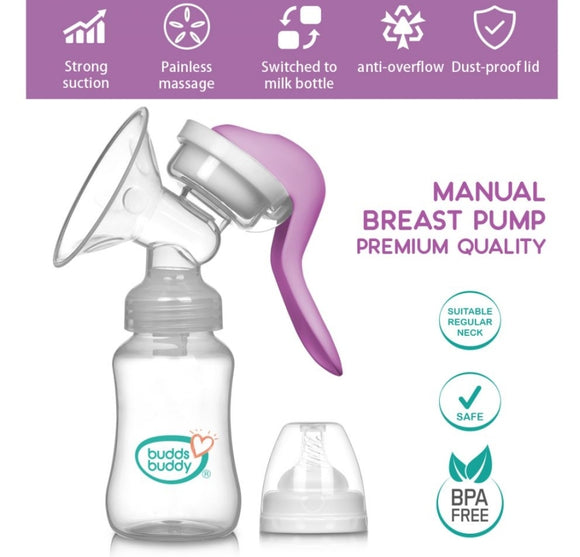Budds Buddy Manual Breast Pump Rremium Quality 1Pc